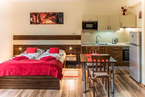 Kuchyňa alebo kuchynka v ubytovaní Ubytovanie Žember