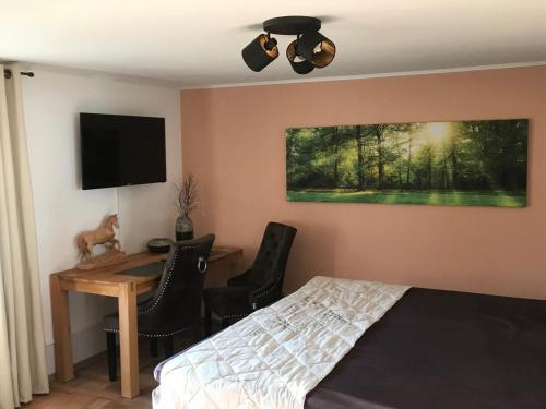 Ein Bett oder Betten in einem Zimmer der Unterkunft Innahome