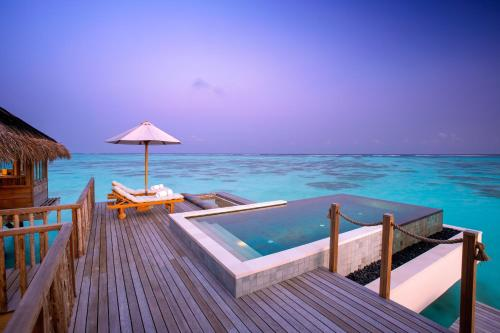 The swimming pool at or close to Gili Lankanfushi Maldives