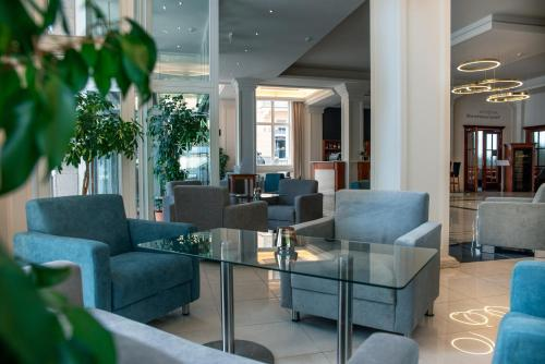 The lobby or reception area at Spa & Wellness Hotel Olympia Marienbad