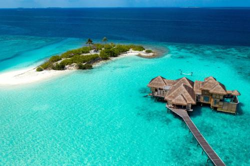 A bird's-eye view of Gili Lankanfushi Maldives