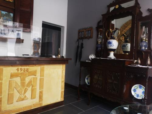 The lobby or reception area at Kipros Accommodation