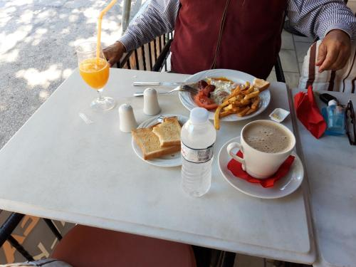 Breakfast options available to guests at Odysseus Palace