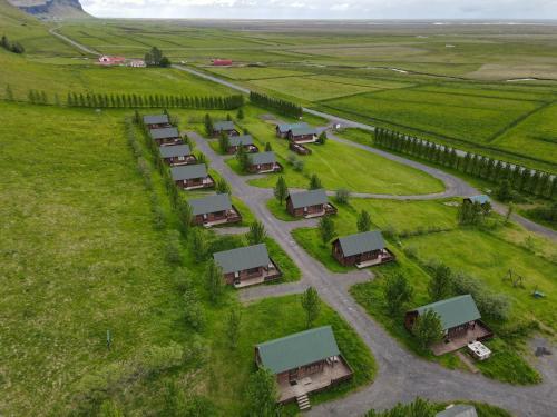 A bird's-eye view of Hörgsland Cottages
