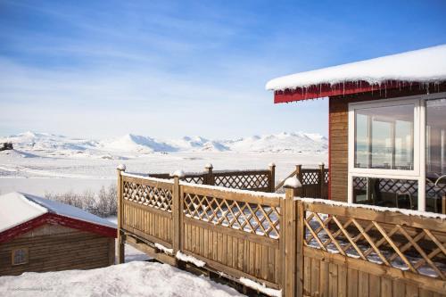 Guesthouse Nypugardar im Winter