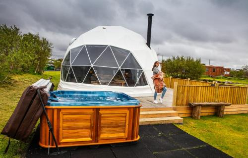 The swimming pool at or close to Reykjavik Domes
