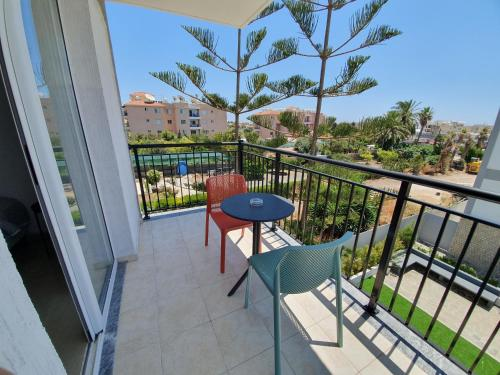 A balcony or terrace at Valentinos Apartments
