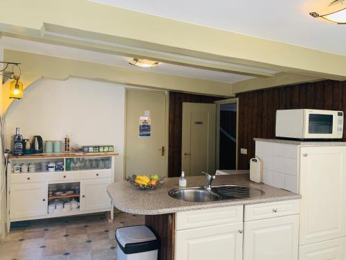 A kitchen or kitchenette at Amsterdam Central Guest House