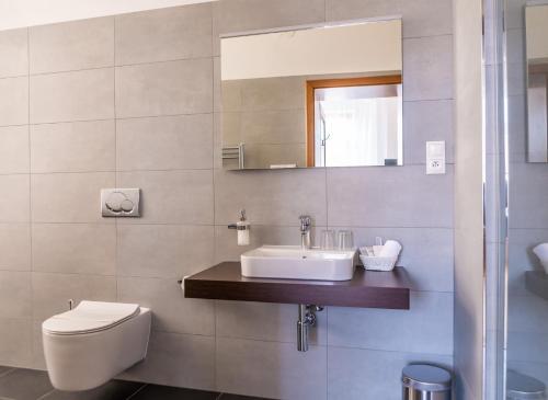 Kúpeľňa v ubytovaní Penzion U Madony