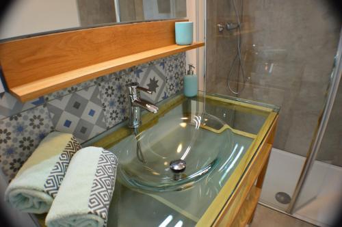 A bathroom at Le Relais des Capitelles