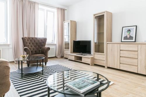 Posezení v ubytování Apartament Poznańska