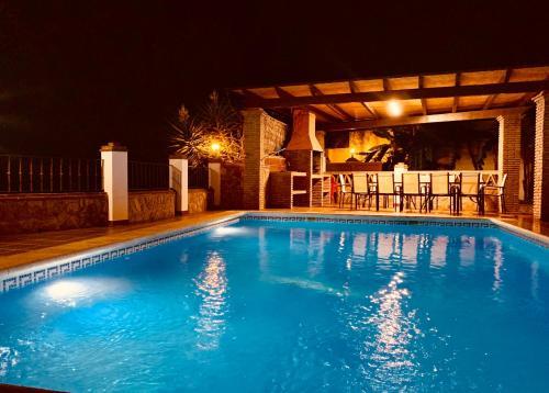 The swimming pool at or near Villa Pelae