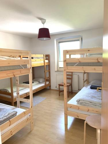A bunk bed or bunk beds in a room at Blue Mountain Hostel