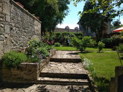 A garden outside Le Clos du Barry