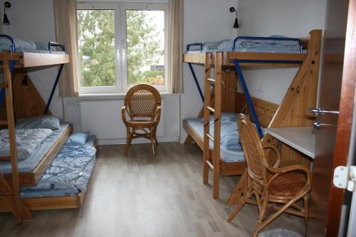 A bunk bed or bunk beds in a room at Møn Hostel & Vandrehjem