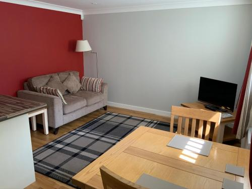 A seating area at Vauxhall Apartments