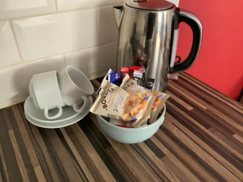 Coffee and tea-making facilities at Vauxhall Apartments
