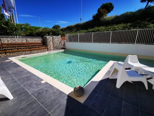 The swimming pool at or near Kyriad Prestige Montpellier Ouest - Croix D'argent - A709