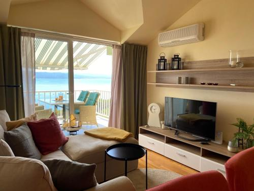 A seating area at Werz Sea View Apartment