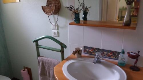 A bathroom at Maison d'Hôtes Afrika du Queyroux