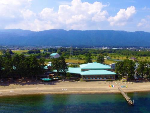 A bird's-eye view of Grand Park Hotel Okubiwako Makino