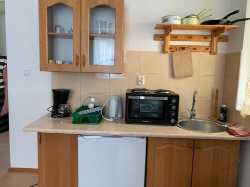 Kuchnia lub aneks kuchenny w obiekcie Pensjonat Stadnina Red Lion Farm