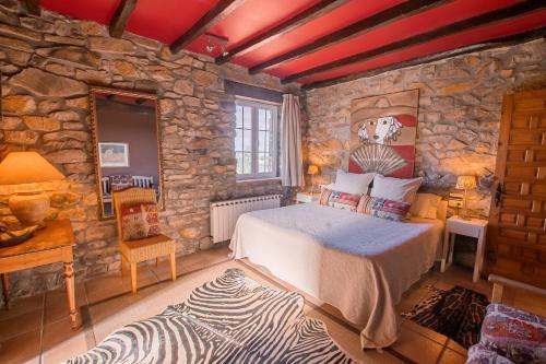 Cama o camas de una habitación en Txerturi-Goikoa