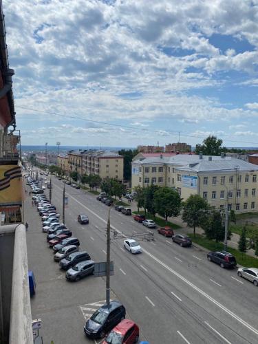 Общий вид на город Ижевск или вид на город из апартаментов/квартиры
