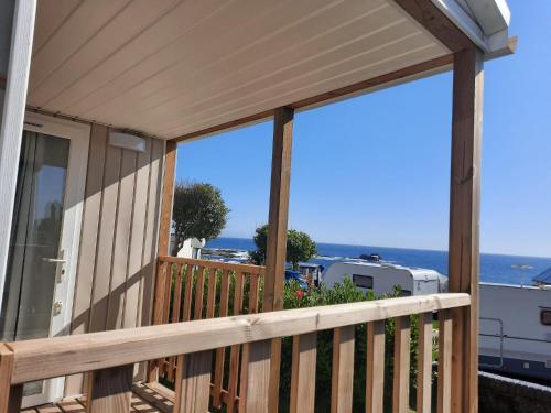 Een balkon of terras bij Camping 1ª O Muiño - Bungalow Park