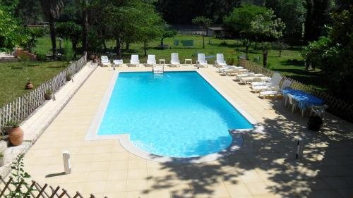 A view of the pool at Bed & Breakfast - Domaine de La Provenç'âne or nearby