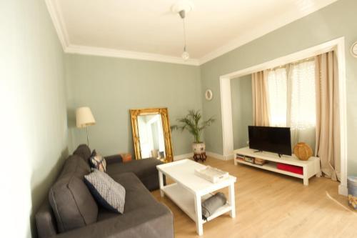 Zona de estar de La Villa Suite Málaga