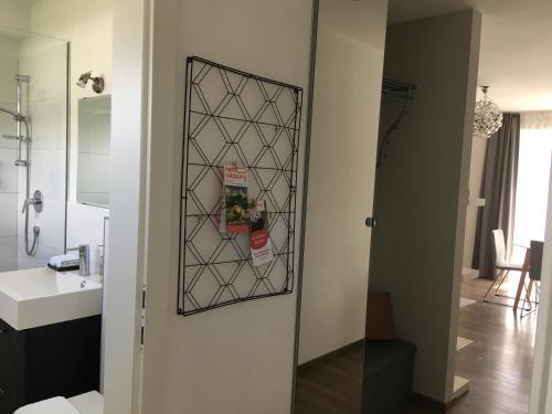 A bathroom at Kal's Studio Apartment Salzburg