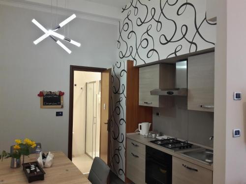 Küche/Küchenzeile in der Unterkunft Hotel Paradise