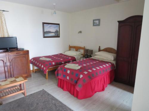 A bed or beds in a room at Carnside Guest House
