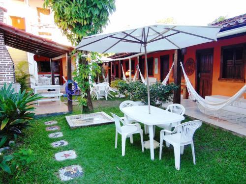 A garden outside Pousada do Carlos