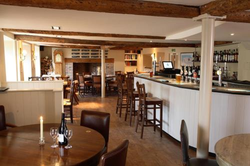 The lounge or bar area at The Crown Inn