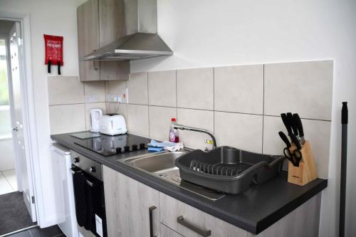 A kitchen or kitchenette at Ilfracombe Apartments