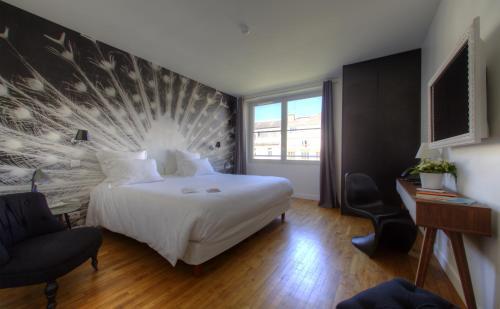 מיטה או מיטות בחדר ב-21, Foch