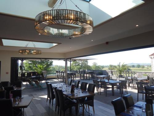 A restaurant or other place to eat at Crossways
