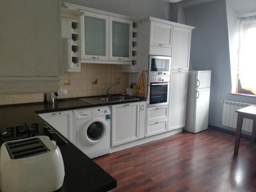 A kitchen or kitchenette at apartament eurotrader321
