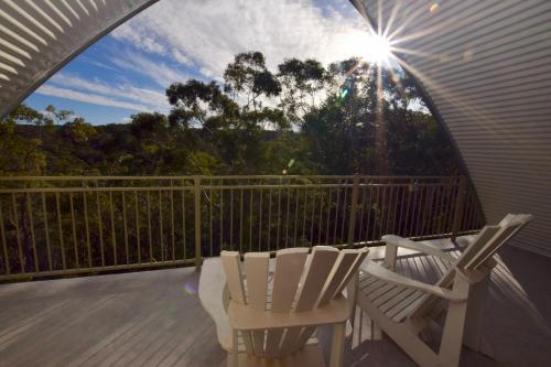 A balcony or terrace at Treetops Eco Loft