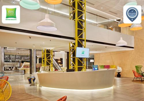 The lobby or reception area at ibis Styles Batam Nagoya