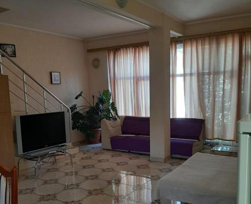 Телевизор и/или развлекательный центр в Студио на Васильева