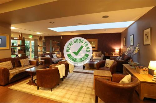 The lobby or reception area at Muthu Clumber Park Hotel and Spa