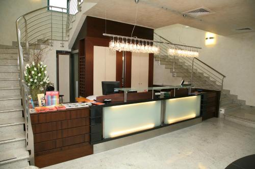 The lobby or reception area at Hotel Parisi