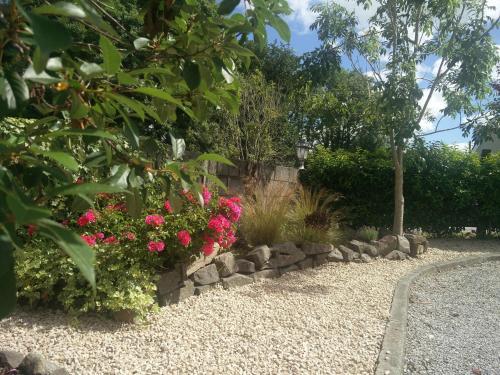 A garden outside Foxhollow House B&B