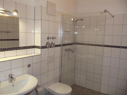 Ein Badezimmer in der Unterkunft Gästehaus Hubertus Bad Aibling
