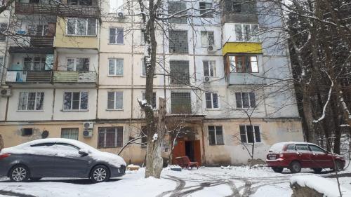 Улица Ленина 58А during the winter