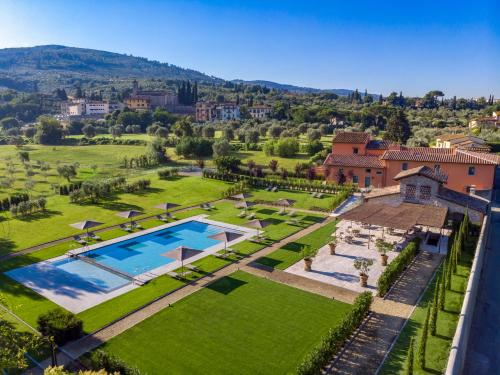 A view of the pool at Villa La Massa or nearby