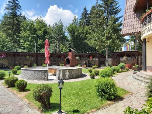 A garden outside Hotel Ruia